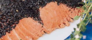 Cold Salmon with a Sesame Crust