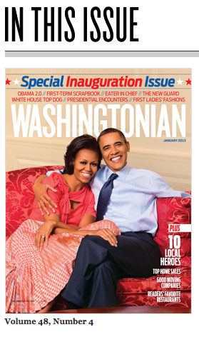 Washingtonian magazine January 2013