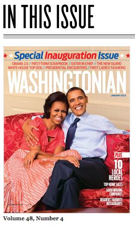 Washingtonian magazine January 2013