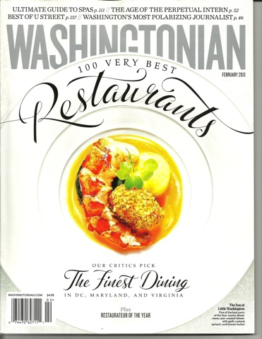 Washingtonian Cover Feb '13