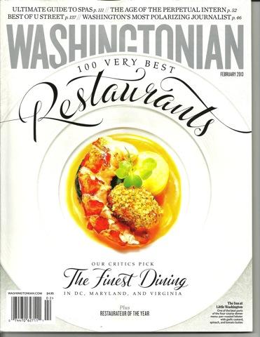 Washingtonian Cover Feb '13
