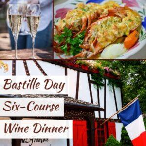 bastille day six course wine dinner